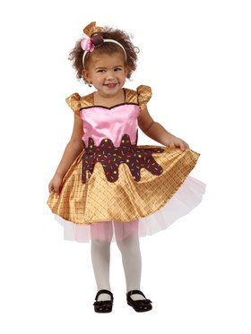 Ice Cream Scoops Girl's Costume