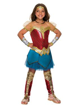 Girls Justice League Premium Wonder Woman Costume