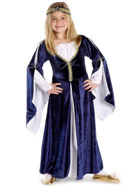 Girl's Lady Kate Blue Dress with Headpiece