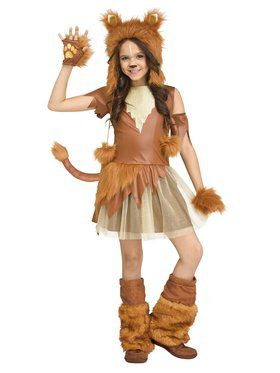 Girls Savanna Lioness Costume