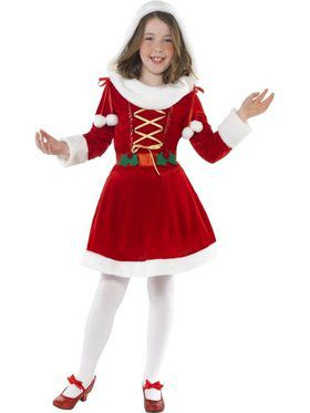 Girls Little Miss Santa Costume