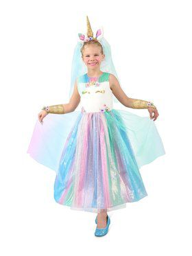 Lovely Lady Unicorn Girl's Dress