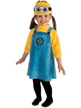 Girls Minion Costume Toddler