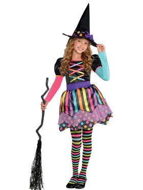 Miss Matched Witch Costume For Girls