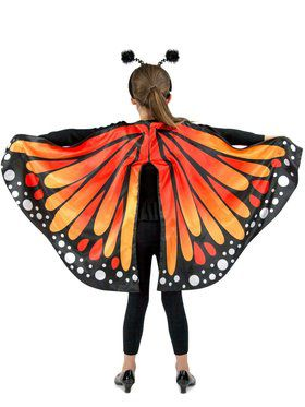 Monarch Butterfly Girl's Cape