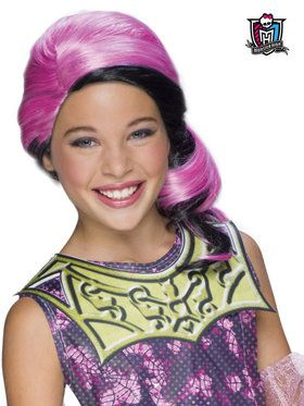 Girls Monster High Draculaura Wig