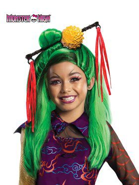 Girls Monster High Jinafire Long Wig