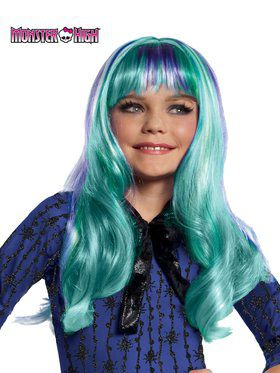 Girls Monster High Twyla Wig