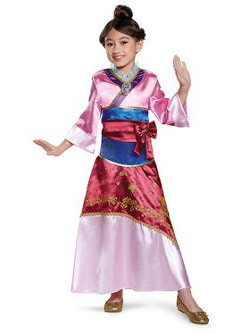 Child Deluxe Mulan Disney Princess Costume