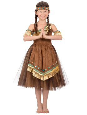 Native American Princess Girl's Costume