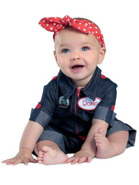 Rosie the Riveter Newborn Girl's Costume