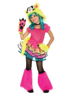 Girl's Party Cat Classic Costume