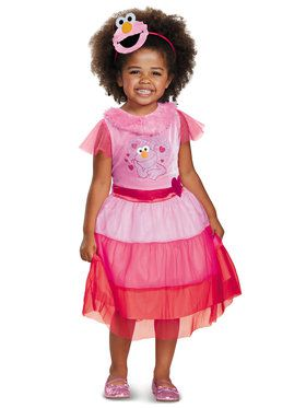 Pink Elmo Dress Classic Costume For Girls