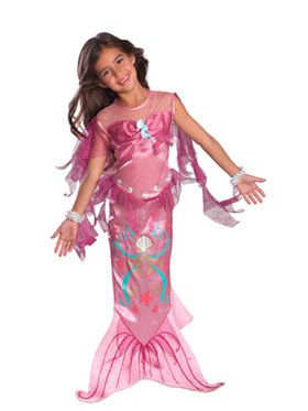Pink Mermaid Costume For Children