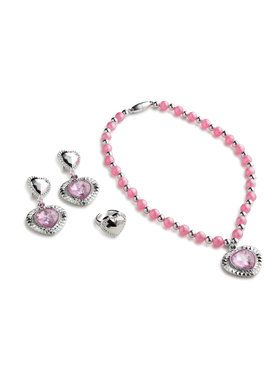 Girls Pink Princess Jewelry Set