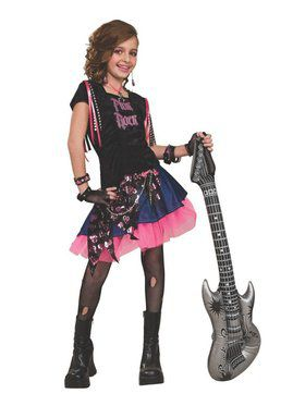 Rock Girl Pink Costume