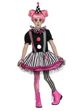 Pinkie The Clown Girl's Costume