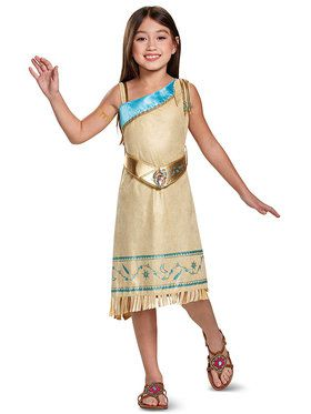 Pocahontas Deluxe Costume For Girls