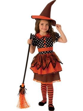 Polka Dot Witch Girls Costume
