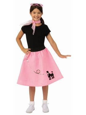 Girls Doo Wop Poodle Skirt Costume