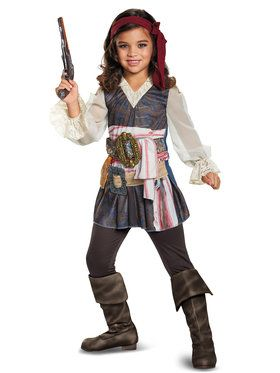 Child Classic Captain Jack Girl Costume - Pirates of the Caribbean 5