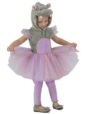 Girls Princess Hippo Child Costume
