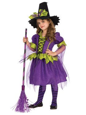 Purple Moon Girls Witch Costume