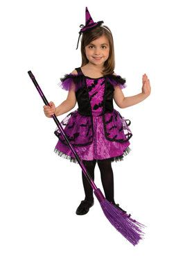 Kids Purple Witch Costume