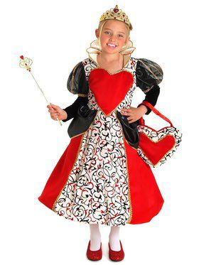 Girls Queen Charlotte Child Costume