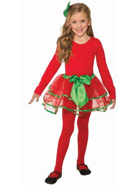 Girl's Classic Red and Green Christmas Tutu