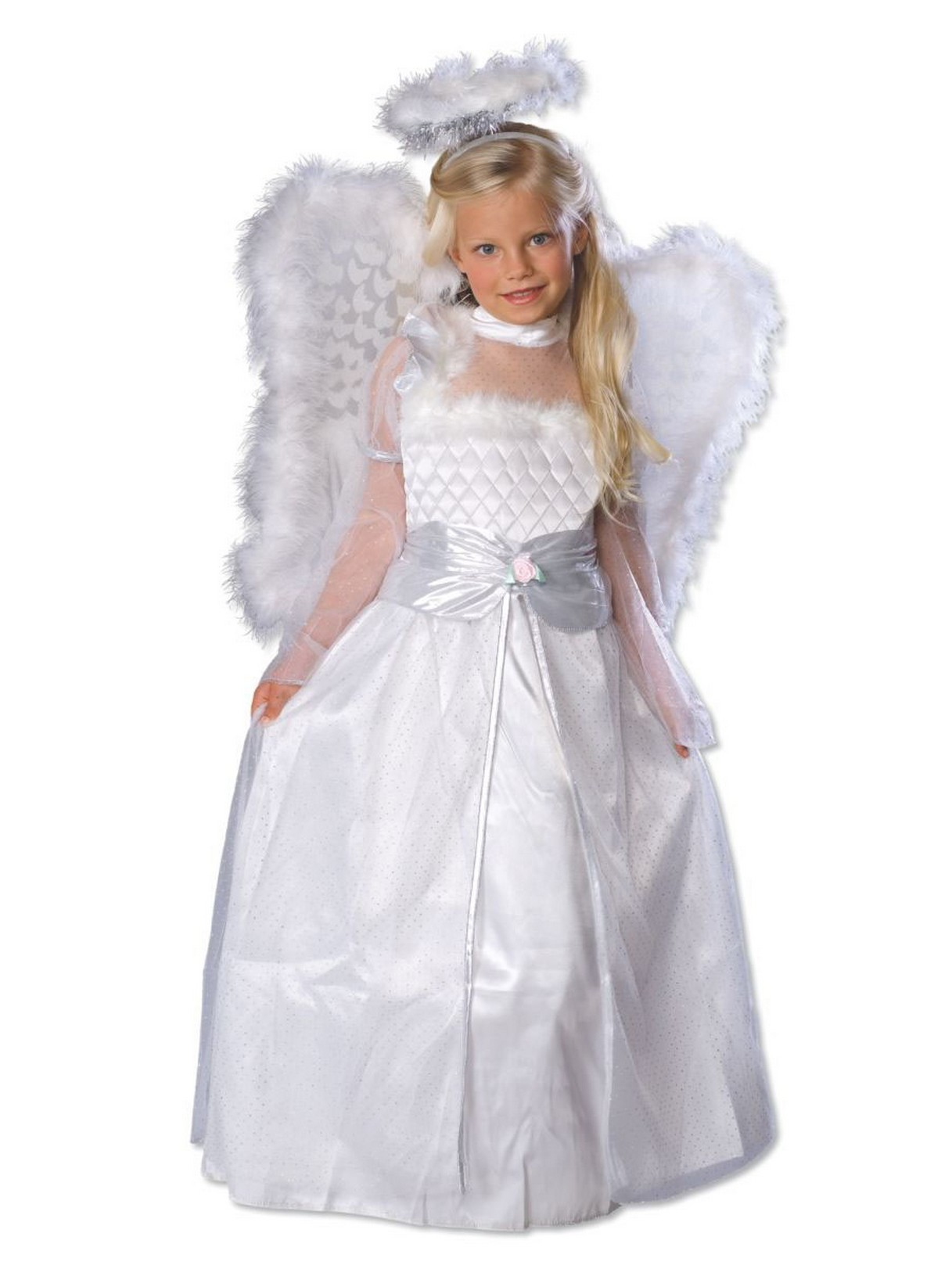 Rubie's Rosebud Angel Costume With Wings For Girls - Small