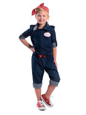 Rosie the Riveter Girl's Costume