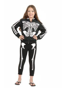Girl's Halloween Skeleton Leggings
