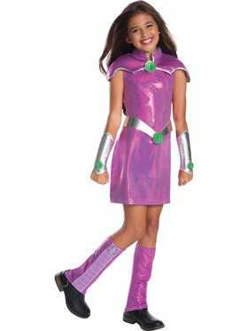 Starfire Deluxe Costume For Girls