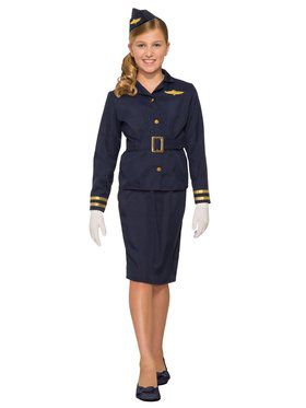 Stewardess Girls Costume