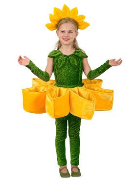 Sunflower Petal Pocket Girls Costume