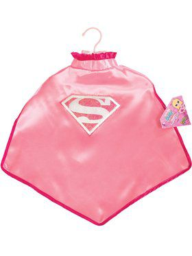 Girl's Supergirl Cape with Glitter Logo