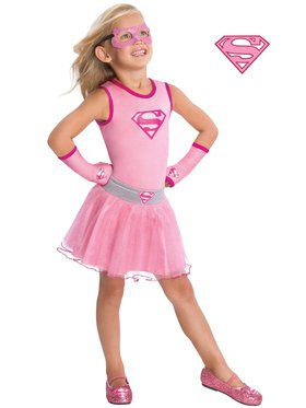 Girl's Supergirl Glitter Tutu Skirt