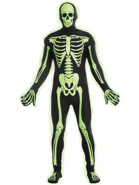 Teen Disappearing Skeleton Man Costume