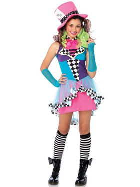 Girl's Teen Mayhem Hatter Costume
