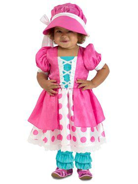 Girls Toddler Polka Dot Bo Peep Child Costume