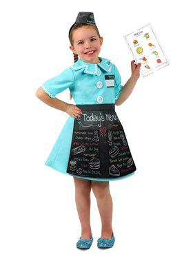Girls Waitress Dress - Up Set