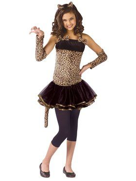 Girls Wild Cat Child Costume