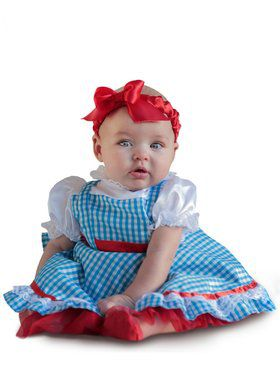 Girls Wizard of Oz Dorothy Newborn Child Costume