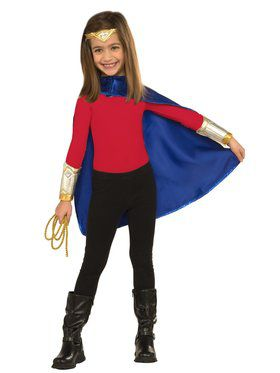 Girls Wonder Woman Deluxe Dress Up Costume
