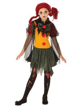 Zombie Girls Clown Costume