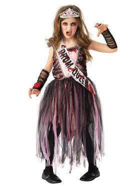 Kids Prom Queen Zombie Costume