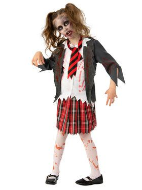 Eerie Zombie High School Costume for Girls