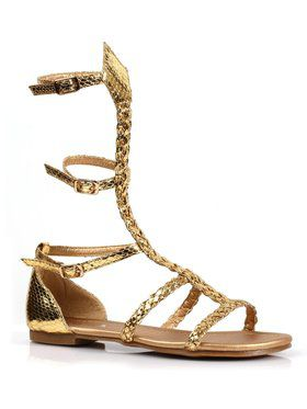 Gladiator Flat Gold Girls Sandal