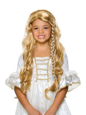 Girls Blonde Princess Wig